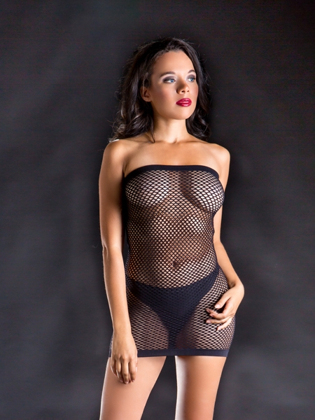 Robe tube en filet par Beverly Hills Naughty Girl