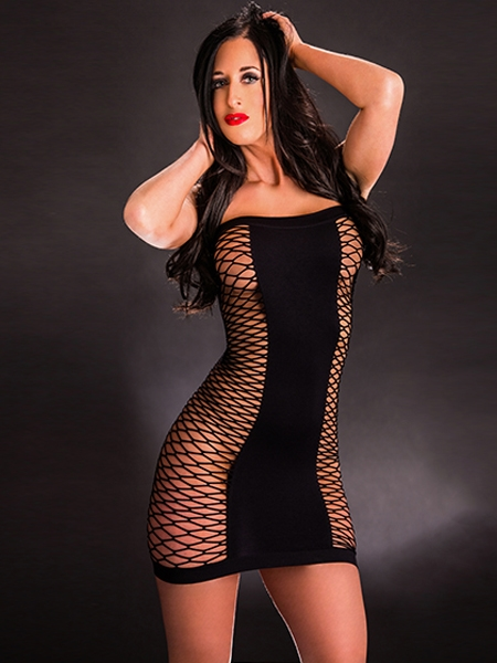 Robe tube et résille par Beverly Hills Naughty Girl