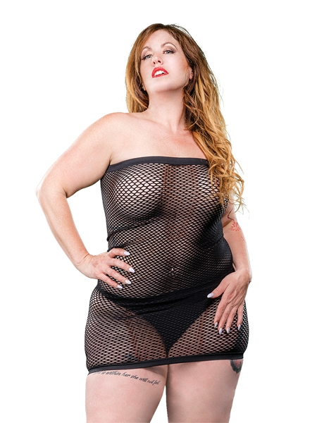 Robe Tube en filet taille plus par Beverly Hills Naughty Girl