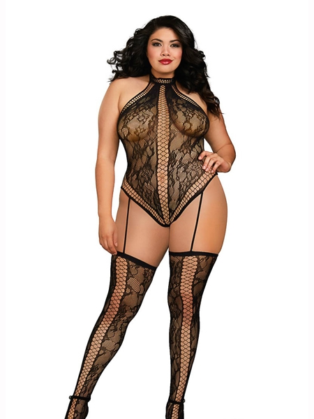 Teddy-Bodystocking en dentelle de Dreamgirl